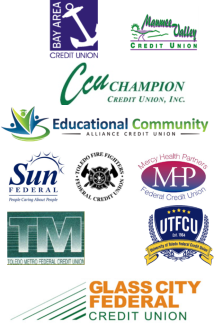 Logos of the participating Credit Unions in CuExpress